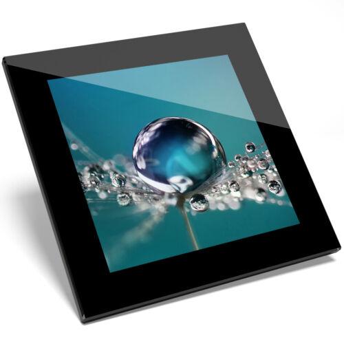 1 X Belle eau perle verre Coaster-Cuisine étudiant Qualité Cadeau #8537