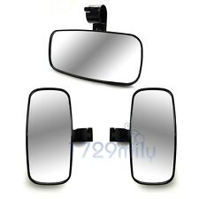 """2"""" Rear & Side View Mirrors for Roll Bar Polaris RZR Can Am Maverick Commander"""