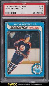 1979 O-Pee-Chee Hockey Wayne Gretzky ROOKIE RC #18 PSA 3 VG