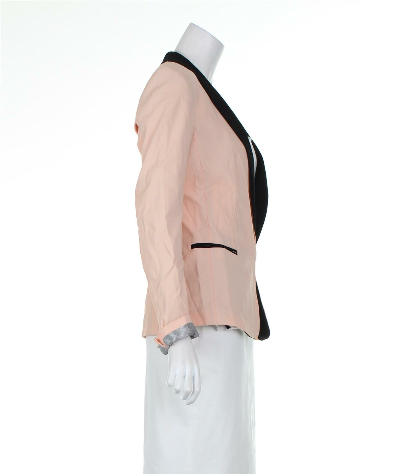 RAG & BONE Pink And Black Blazer Jacket, UK 6 US … - image 4