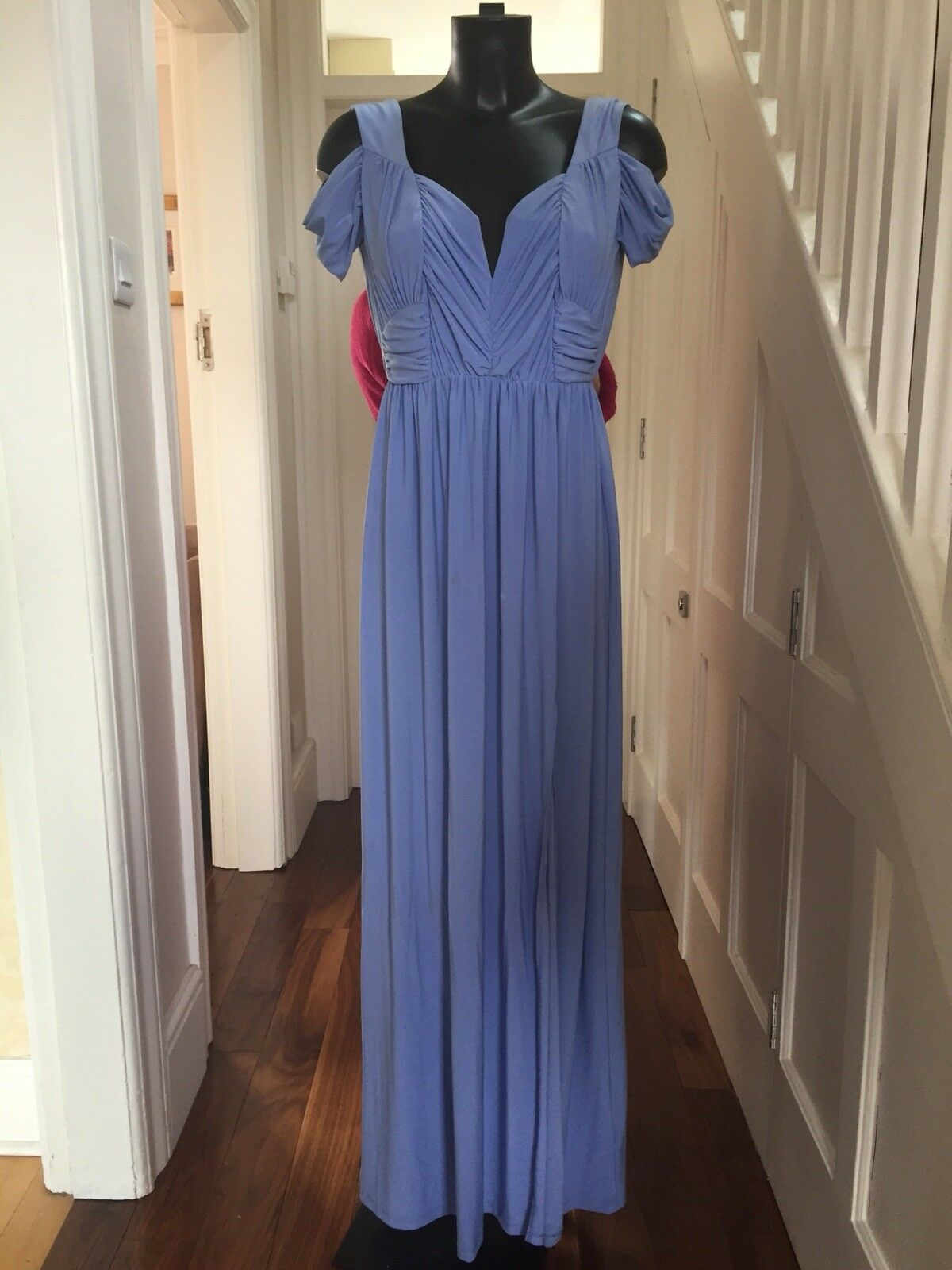 ASOS bluee Cornflower Gown Formal Bridesmaid Wedding Maxi Dress. Worn Once. Sz 10