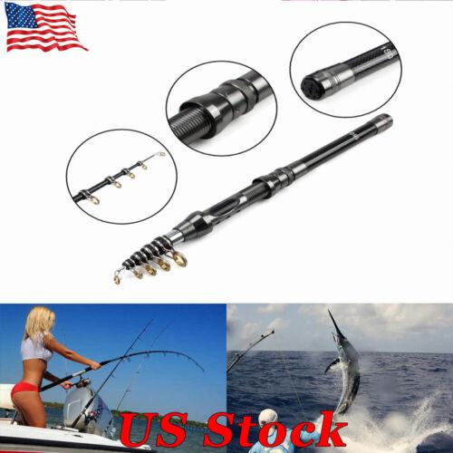 1.8//2.4//2.7M Fishing Rod Carbon Fiber Telescopic Portable Sea Spinning Pole