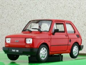 FIAT 126 - red - WELLY 1:24