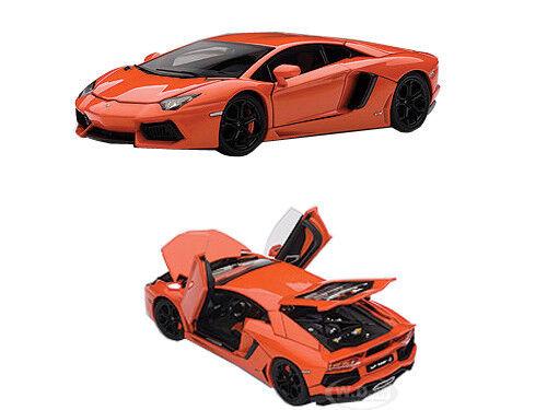 LAMBORGHINI AVENTADOR LP700-4 METALLIC orange orange orange WITH OPENINGS 1 43 AUTOART 54647 b47b91