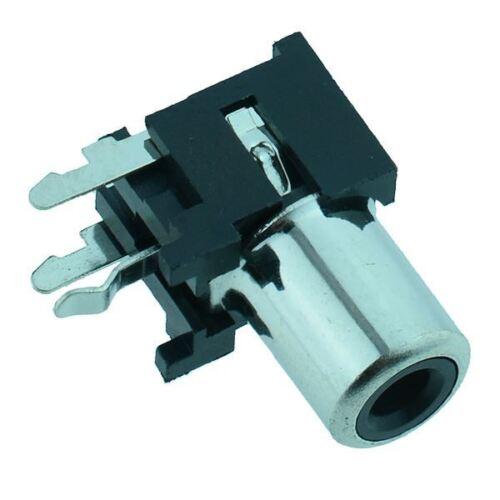 RCA noir angle droit PCB Phono Socket