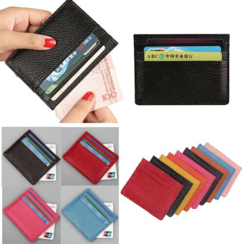 Unisex PU Leather Thin Wallet ID Money Credit Card Slim Holder Money Pocket