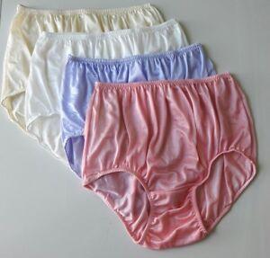 07e2c5c0182 4x Soft Panties Size XXL Silk Nylon Underwear Vintage Style Briefs ...