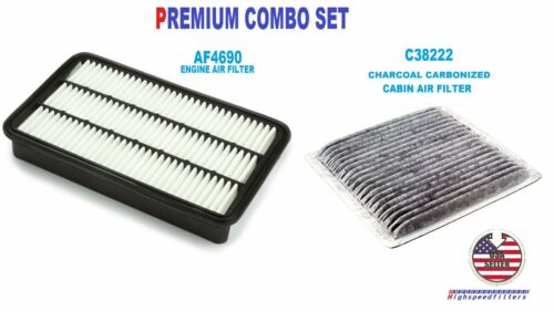 AF4690 C38222 Air Filter /& CARBONIZED Cabin Air Filter For 1999-03 LEXUS RX300
