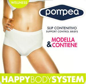 Slip Da Donna Guaina Contenitiva Modellante Pancera In Microfibra Pompea Welness