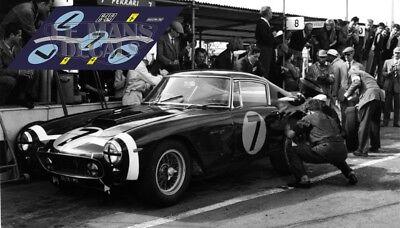 Calcas Ferrari 250 Gt Swb Gooodwood Tourist Trophy 1961 1:32 1:24 43 18 Decals
