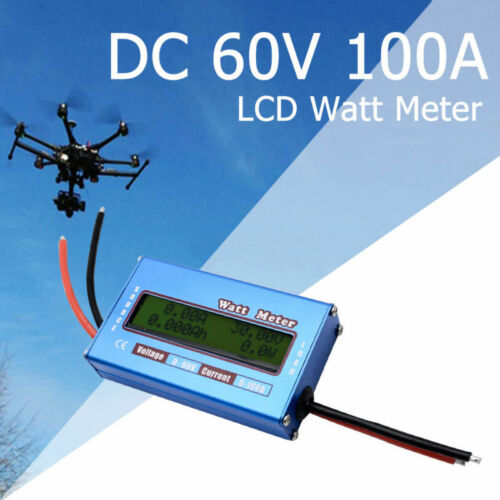 LCD Digital Batterie-Balancen Voltage Amperemeter Analyzer Watt Meter 100A//60V