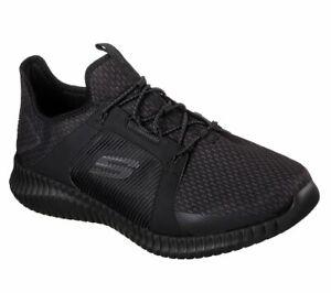 Skechers-Scarpe-W-Wide-Fit-Nero-Men-039-s-memory-foam-confortevole-Sport-Mesh-del-treno-52640