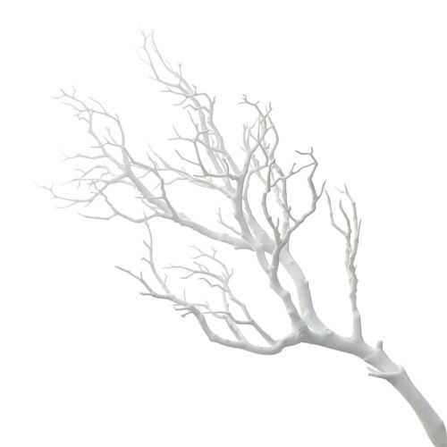 Large Plastic Artificial Coral Branch 36-Inch White