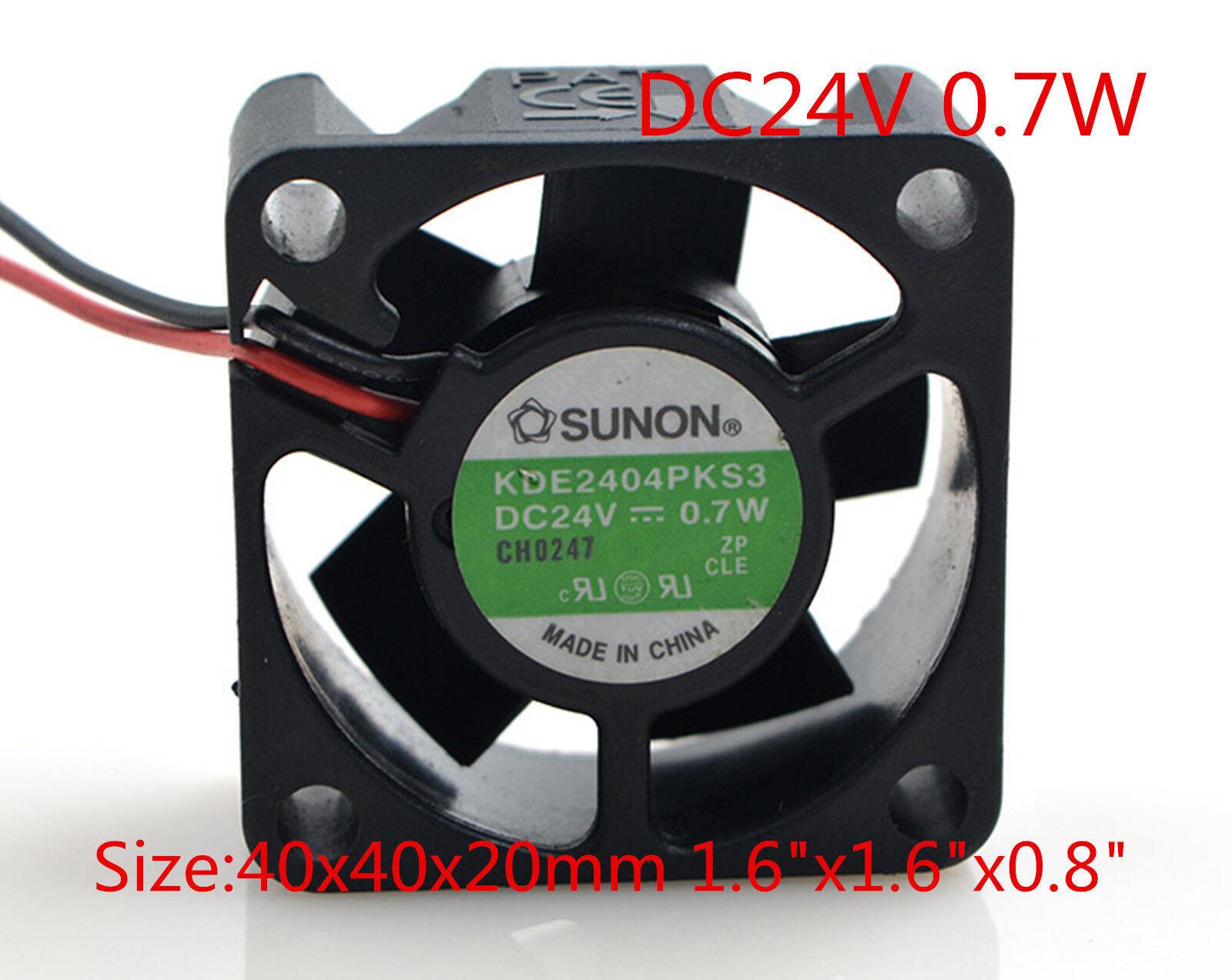SUNON Cooling Fan KDE2404PKS3 4020 DC 24V 0.7W 4CM 40 x40x20mm 1.6