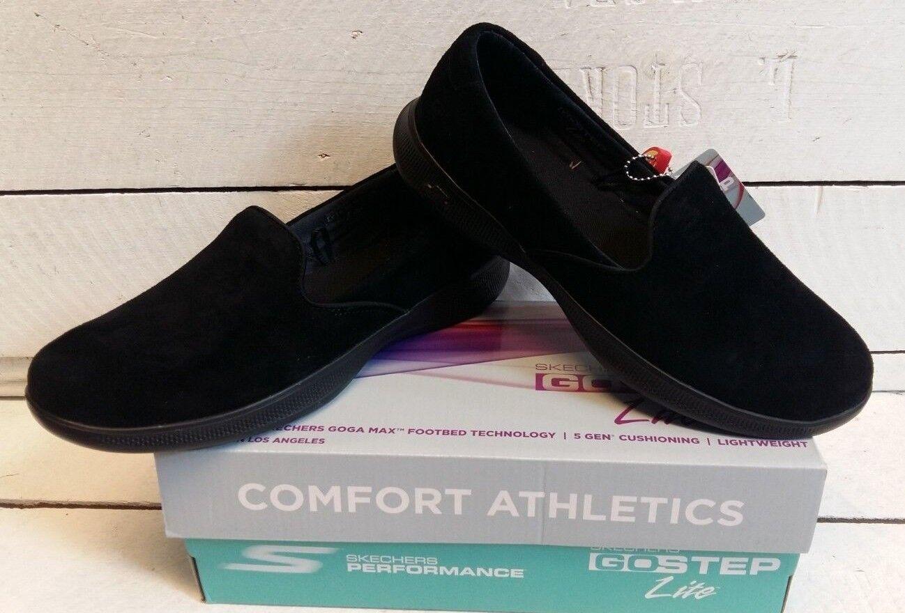 Femmes Skechers 14718 Go étape Lite se livrer en Daim noir À Enfiler chaussures