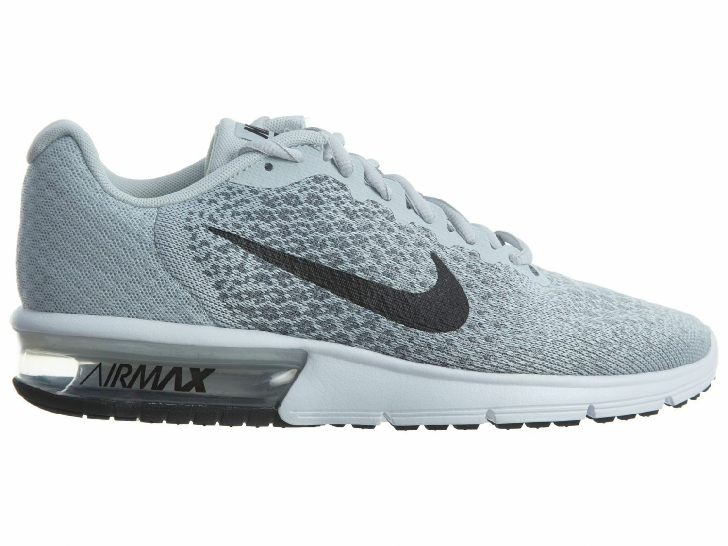 Nike Air Max Sequent 2 Womens 852465-001 Platinum Grey Running Shoes Size 6