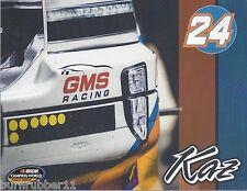 "2016 KAZ GRALA ""GMS RACING"" #24 NASCAR CAMPING WORLD TRUCK SERIES POSTCARD"
