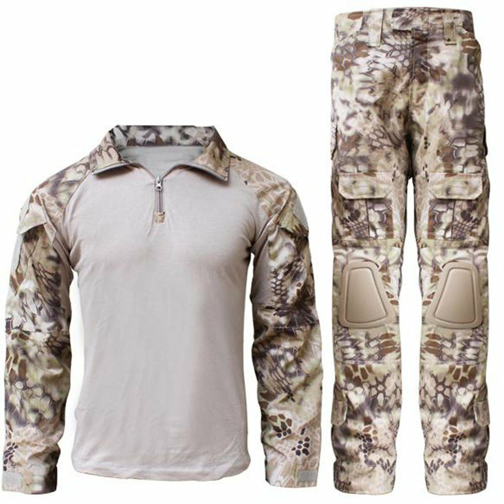 Military Army Airsoft Tactical Clothing Combat Camouflage Uniform W  Knee Pads  exclusive