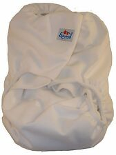 Adult Incontinence Cloth Diaper with Oversized 6x24 Insert; 5 Layer-Charcoa...