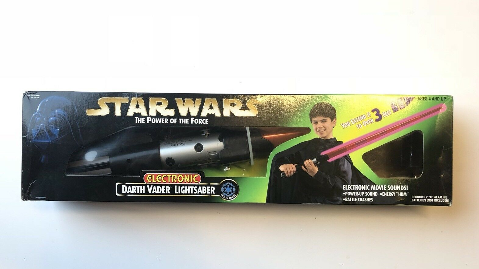 Star Wars Power Of The Force Darth Vader Electronic Electronic Electronic Lightsaber Boxed Red Sfx 96 558dc2