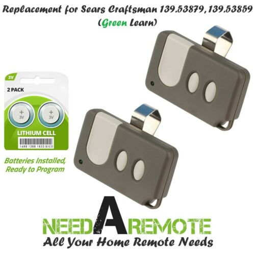2 For Sears Craftsman 139.53859 Garage Door Opener Remote Transmitter 139.53879