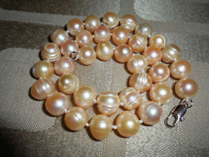 Natural-pink-Fresh-Water-Genuine-Pearl-Necklace-Freshwater-11-12mm
