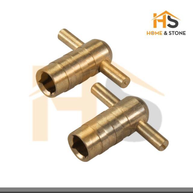 2 Pack Radiator Bleed Key - Silverline 427586 Solid Brass Plumbing Silverline