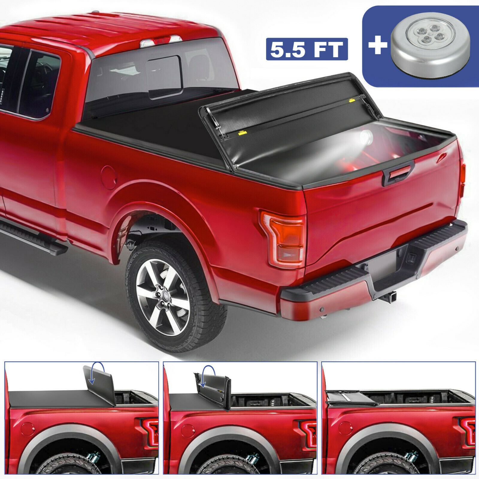 For 2015 2020 Ford F 150 8ft Bed Premium Roll Up Tonneau Cover For Sale Online Ebay