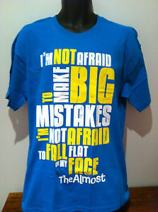 THE-ALMOST-Big-Mistakes-Logo-Blue-T-SHIRT-NEW-OFFICIAL-MERCHANDISE-Size-LARGE