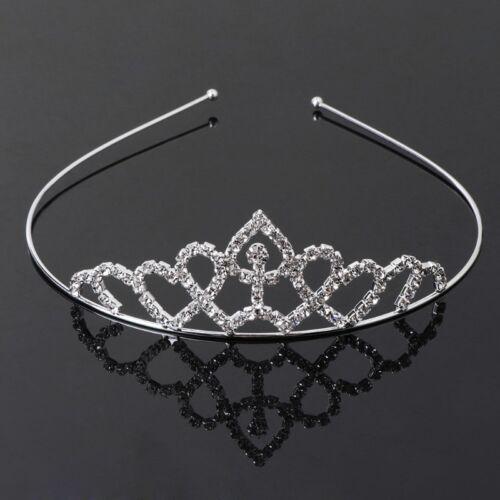 Girls Headband Crown Hair Tiara Children Kids Rhinestone Party Princess 10 Types