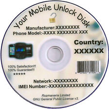 Cell Phone Unlock Unlocking Software CD DVD Disk and Free Mobile Unlock 8 GB