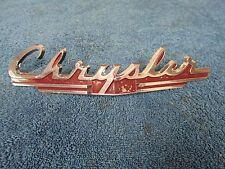 1949 CHRYSLER TOWN & COUNTRY ROYAL WOODY HOOD EMBLEM NOS MOPAR 615
