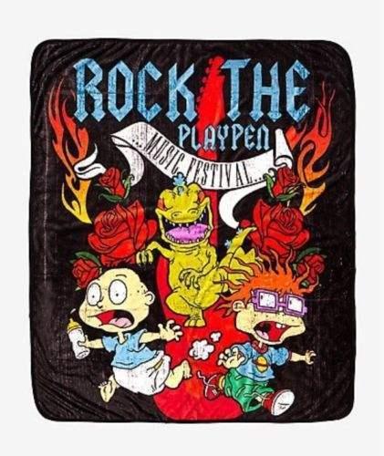 NICKELODEON ROCK THE PLAYPEN RUGRATS BLANKET NEW!