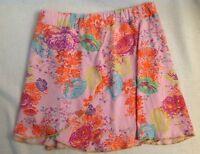 Cakewalk Pink Floral Layered Skirt 116 6