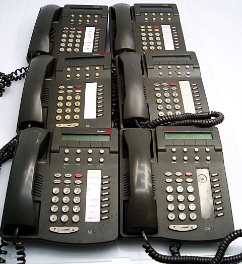 Lot of 6 Avaya Lucent 6408D+ Digital Telephone Phones