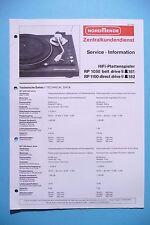 Servizio Manuale di Istruzioni per Nordmende RP 1050/RP 1100 ,ORIGINALE