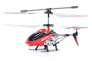 Syma S107/S107G 3 Channel RC Radio Remote Control Helicopter with Gyro - RED