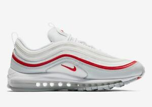 best sneakers 86e53 bf485 Details about 2018 Nike Air Max 97 White Pure Platinum Red OG Size 13.  AR5531-002