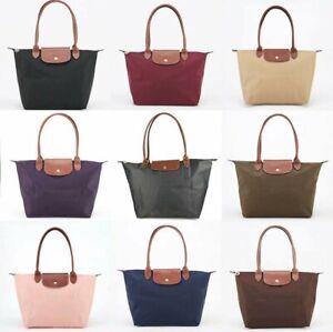 Longchamp Le Pliage Medium Folding Tote Bilberry Purple Handbag Shoulder Bag New