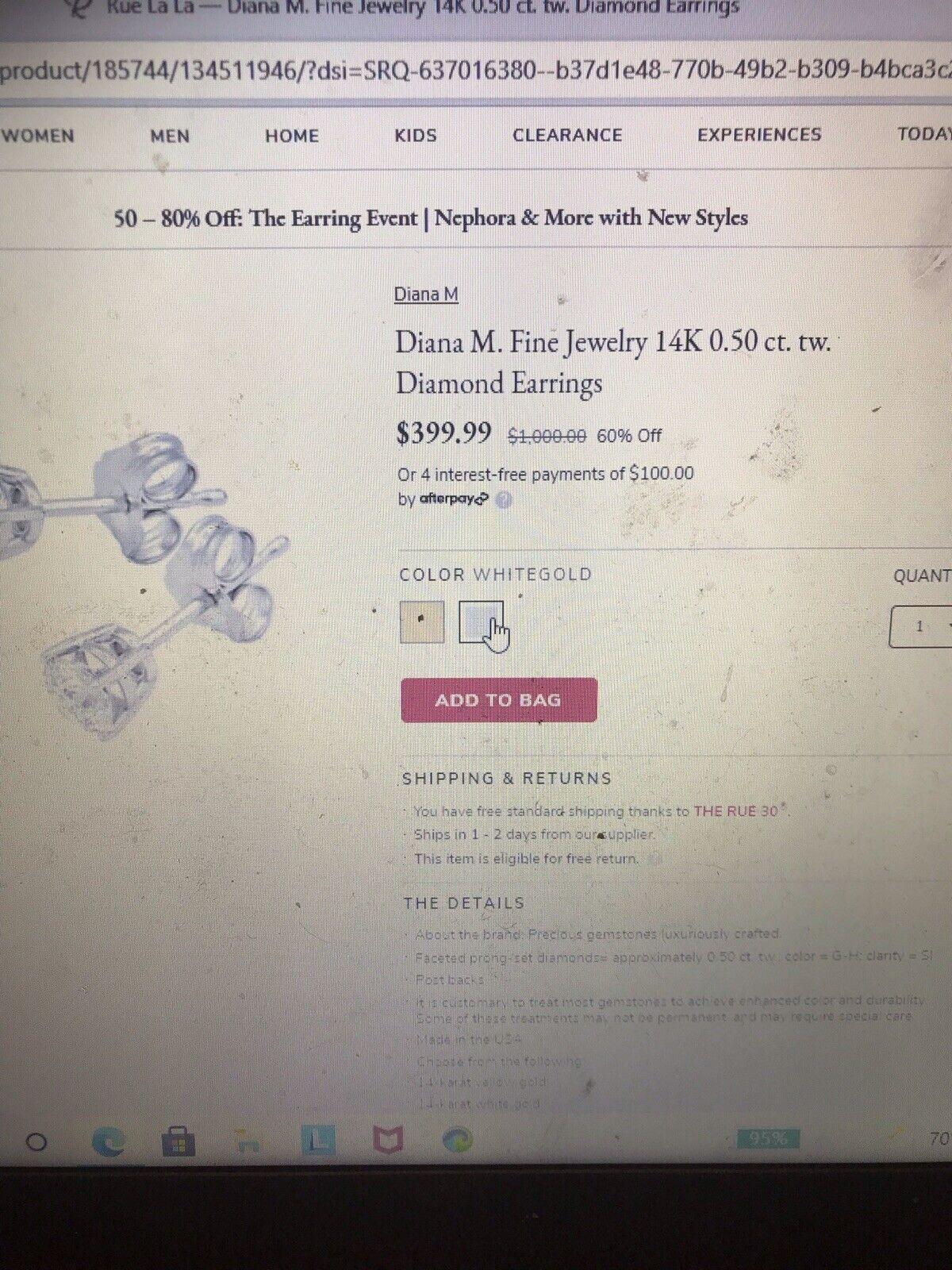 Diana M Diamond Stud Earrings.50 - image 5