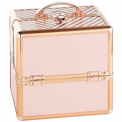 Beautify Small Blush Pink Beauty Case Professional  Cosmetic Makeup Vanity Box