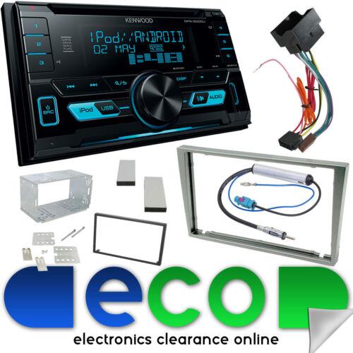 Vauxhall ZAFIRA B Kenwood Auto Stereo Cd MP3 Usb Iphone Luz Plata Fascia Kit