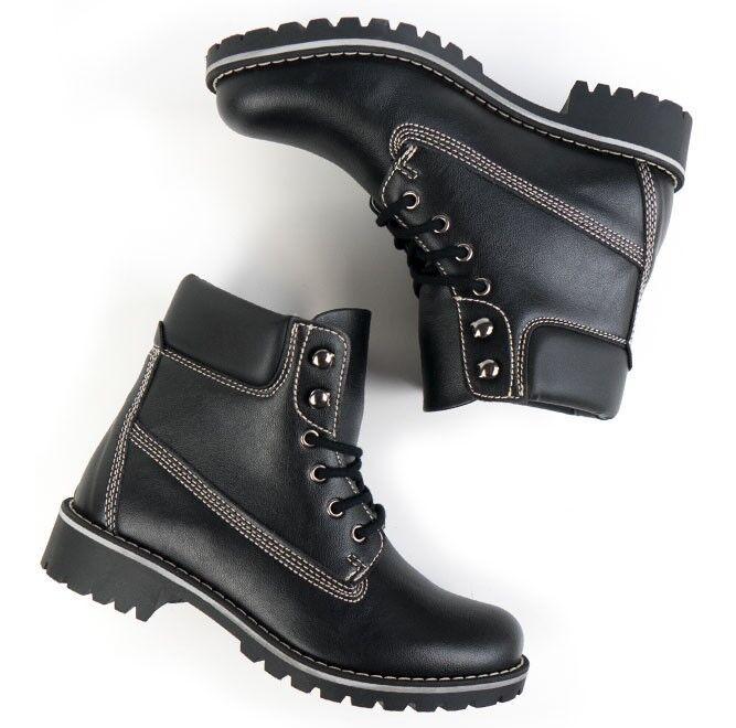 divertiti con uno sconto del 30-50% Will's Vegan Store Leather nero Dock Dock Dock stivali, US Dimensione 6-6.5 (37)  vendita all'ingrosso