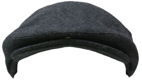 NEW GREY TEXTURED WOOL NEWSBOY BAKERBOY DRIVERS FLAT HAT RACING COUNTRY CAP
