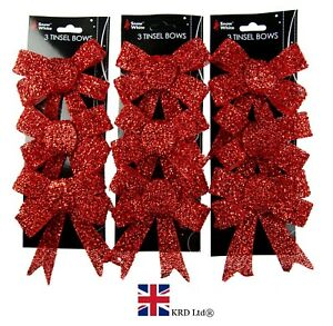 RED BOWS Christmas Tree Bow Pack