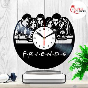 Friends-TV-Show-Series-Vinyl-Record-Black-Wall-Clock-Art-Decor-Birthday-Gifts