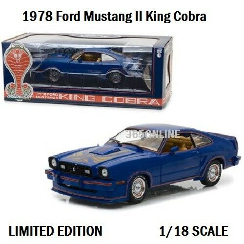 vertLIGHT 1978 Ford Mustang II II II King Cobra Bleu 1 18 Moulé Sous Pression 13507 61bc79