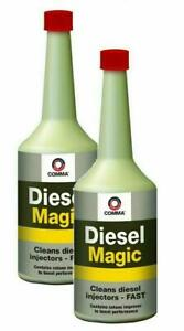 2x-Comma-Diesel-Injector-Magic-400ml-Treatment-Cleaner-Anti-fog-Smoke-Smog