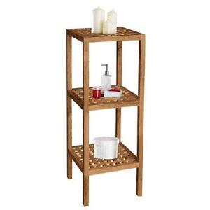 Badregal Badezimmerregal Regal Bad Sauna Holz Walnuss 3 Ebay