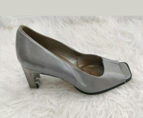 Cartier Womens Open Eu Vintage Leather 4 Toe Grey Uk 37 Shoes Roland qaw6c1t